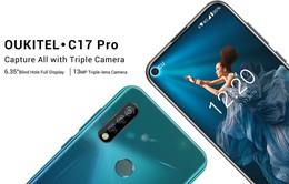 Oukitel C17 Pro: Smartphone 3 camera sau, pin khủng, giá rẻ