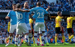 Ghi 5 bàn trong 18 phút đầu hiệp, Manchester City 'hủy diệt' Watford 8-0