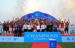 Hồng Lĩnh Hà Tĩnh đăng quang Giải hạng Nhất LS Cup 2019