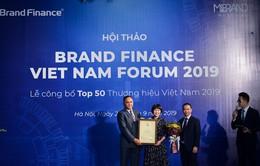 Viettel liên tiếp 2 năm liền dẫn đầu top 10 thương hiệu giá trị nhất Việt Nam
