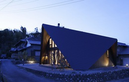 """Mê mẩn ngôi nhà ở vùng quê Nhật Bản lấy cảm hứng từ """"Origami"""""""