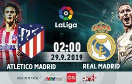 Lịch trực tiếp bóng đá hôm nay (28/9): Atletico đại chiến Real, Man City đọ sức Everton