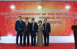 Tổng lãnh sự quán tại Preah Sihanouk tổ chức chiêu đãi chào mừng 74 năm Quốc khánh Việt Nam