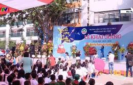 Lễ khai giảng năm học mới ở một trường liên cấp tại Hà Nội