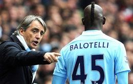 HLV Mancini đặt ra điều kiện để Balotelli trở lại đội tuyển Italia