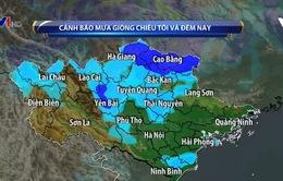 Cảnh báo mưa giông diện rộng ở Bắc Bộ