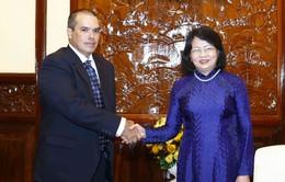 Phó Chủ tịch nước tiếp Đoàn lãnh đạo Thông tấn xã Mỹ Latinh Prensa Latina (Cuba)