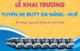 Bắt đầu vận hành tuyến bus Đà Nẵng - Huế với giá 70.000 đồng/lượt