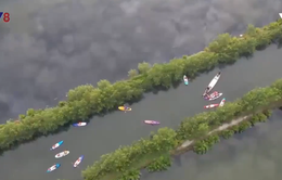 Chuyến phượt thuyền sup ý nghĩa trên đầm phá Tam Giang
