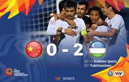 VIDEO Highlights: U23 Trung Quốc 0-2 U23 Uzbekistan (Bảng C VCK U23 châu Á 2020)