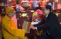 Chủ tịch Ủy ban MTTQ thăm Đại lão hòa thượng Thích Phổ Tuệ