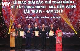 Đài Truyền hình Việt Nam vinh dự nhận giải A giải Búa liềm vàng lần thứ IV năm 2019