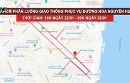 Điều chỉnh giao thông phục vụ đường hoa Nguyễn Huệ
