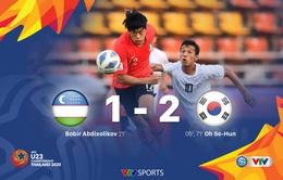 VIDEO Highlights: U23 Uzbekistan 1–2 U23 Hàn Quốc (Bảng C VCK U23 châu Á 2020)