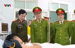 Thăm hỏi 3 chiến sĩ PCCC gặp nạn trong vụ cháy tòa nhà dầu khí