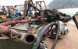 Xử lý 6 tàu hút cát trái phép