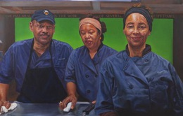 """Đại học danh tiếng Mỹ trưng bày tranh chân dung các nhân viên """"thầm lặng"""""""