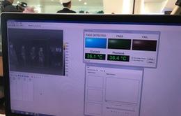 Tăng cường kiểm tra thân nhiệt phòng bệnh viêm phổi cấp tại Sân bay quốc tế Nội Bài