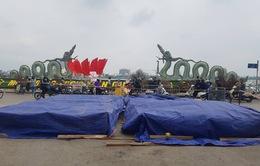Cận cảnh trận địa pháo hoa tầm cao phục vụ đêm Giao thừa 2020 tại Hà Nội