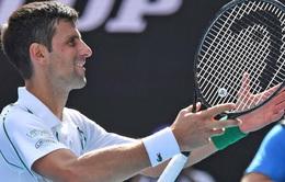 Australia mở rộng 2020: Thắng dễ vòng 4, Djokovic chạm trán Milos Raonic tại tứ kết