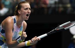 Vòng 4 đơn nữ Australia mở rộng 2020: Kvitova có chiến thắng dễ dàng, Sofia Kenin vào tứ kết