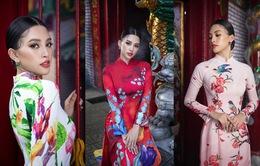 Hoa hậu Tiểu Vy khoe sắc mặn mà trong tà áo dài đón Tết