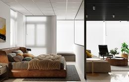 Nhà 2 phòng ngủ rộng rãi nhờ chọn giải pháp cửa trượt