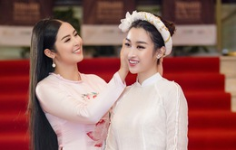 """Hoa hậu Ngọc Hân, Đỗ Mỹ Linh diện áo dài đọ sắc """"một 9 một 10"""""""