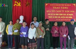 BĐBP Nghệ An trao quà Tết cho người nghèo các xã biên giới