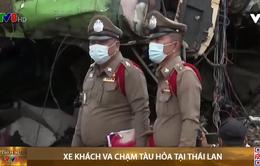 Thái Lan: Xe khách va chạm tàu hỏa
