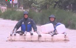 Nam Định mưa lớn gây ngập cục bộ