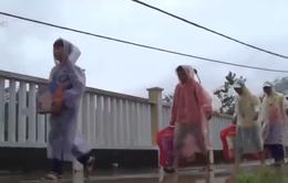 Quảng Nam: Gấp rút sơ tán học sinh khỏi vùng sạt lở