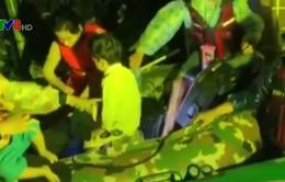Quảng Trị: Cứu người dân vùng lũ trong đêm