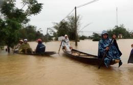 Lũ xuống tại Thừa Thiên Huế, nhiều vùng vẫn ngập sâu