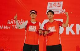 """Cuộc chạy tiếp sức """"Lên cùng Việt Nam"""" đạt mục tiêu 1875km, tiếp tục chặng mới"""