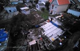 Gió giật mạnh ở Quảng Ngãi, nhiều nhà bị tốc mái