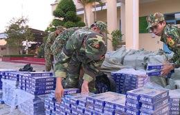 Bắt giữ gần 50.000 gói thuốc lá lậu từ Campuchia vào Việt Nam