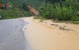 Sạt lở QL40B tại huyện Bắc Trà My, 1 người mất tích