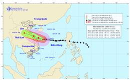 Bão số 13 vẫn rất mạnh, gió giật cấp 12 ở vùng ven biển từ Nam Nghệ An đến Quảng Ngãi