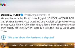 Tổng thống Donald Trump lần đầu tiên đề cập ông Joe Biden thắng cử