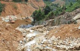 Vụ sạt lở Thủy điện Rào Trăng 3: Hoàn thành khoảng 80% khối lượng công việc đào nắn dòng chảy