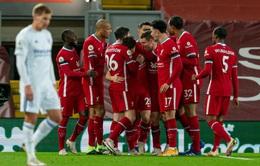 Thắng đậm Leicester, Liverpool vẫn chưa đòi được ngôi đầu Ngoại hạng Anh