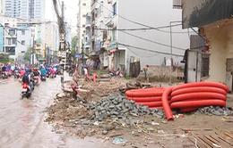 Hà Nội: Tuyến phố hơn 400m ì ạch thi công 2 năm chưa xong