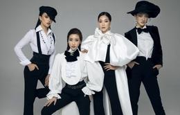"""Khởi động """"Người đẹp thời trang"""", Hoa hậu Mỹ Linh, Tiểu Vy, Thùy Linh diện menswear cực ngầu"""