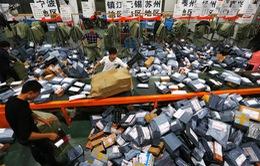 Lễ hội siêu mua sắm 11/11 ở Trung Quốc chứng kiến kỷ lục mới