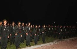 Hàng nghìn cảnh sát cơ động diễn tập bảo vệ Hội nghị cấp cao ASEAN