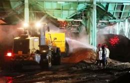 Cháy nhà máy gỗ ở Khu kinh tế Dung Quất, thiệt hại hàng tỷ đồng
