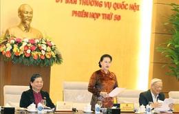 Khai mạc phiên họp thứ 50 Ủy ban Thường vụ Quốc hội