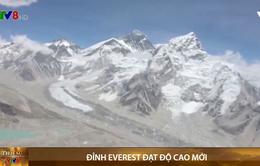 Đỉnh Everest đạt độ cao mới