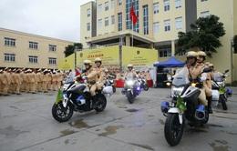 [Ảnh] CSGT ra quân bảo đảm trật tự, an toàn giao thông phục vụ bảo vệ Đại hội XIII của Đảng